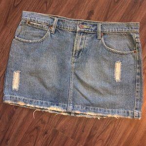 Z. Cavaricci Mini Denim Jean Skirt  Distressed 9